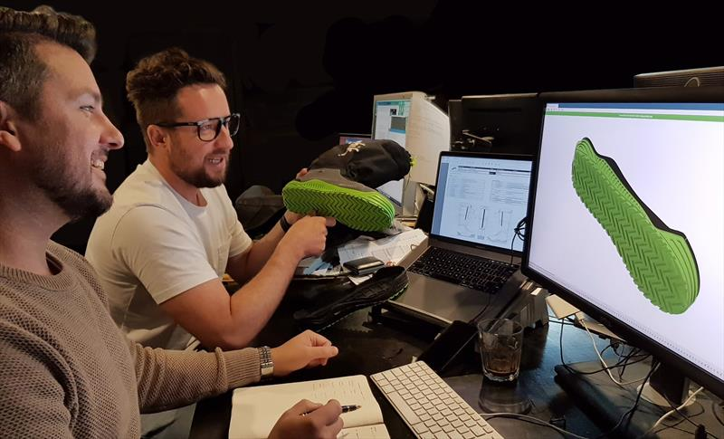 Bart and Drue design the Zhik Volvo Ocean Race footwear - photo © Zhik