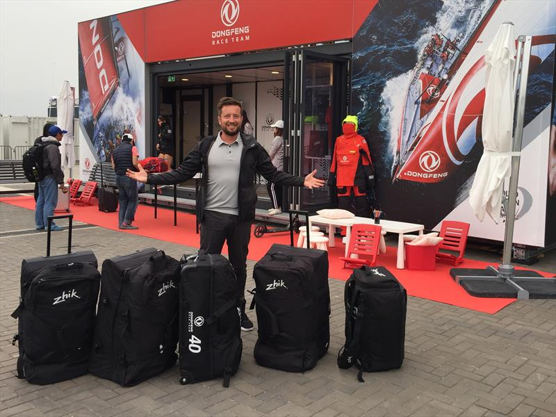 Dongfeng Race Team gear packed and ready to go to the Zhik factory for testing - photo © Zhik