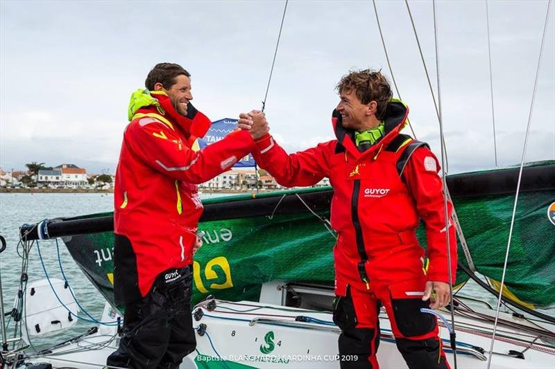 Pierre Leboucher (right) winner of the Drheam Cup Figaro duo class with Erwan Tabarly (left) - photo © Baptiste Blanchard / Zhik